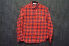 Riders By Lee Womens Plaid Button Down Shirt Sz Small Long Sleeve Red - $8.13