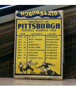 Vintage Matchbook Cover Y6 1933 Football University Pittsburgh Pennsylva... - $53.99