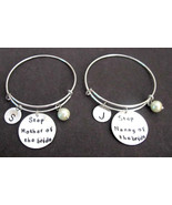 Step Mother of the Bride Bangle,Step Nanny of the Bride Bracelet,Step Mo... - $34.00