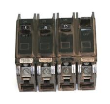 Lot of 2 GE AMP 2 POLE CIRCUIT BREAKER HACR  E-11592 THQB - $37.36