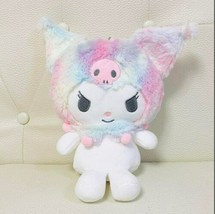 "Kuromi Plush Big Pouch Mascot Pastel 23cm/9.0"" Sanrio Japan - $59.47"