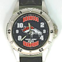 Denver Broncos NFL Super Bowl Fossil New Unworn Vintage Watch, Leather Band! $98 - $97.86