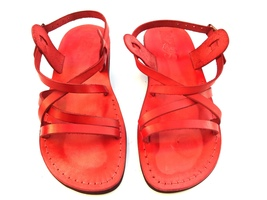 Leather Sandals for Men and Women LONDON by SANDALIM Biblical Greek Summ... - $40.36 CAD+