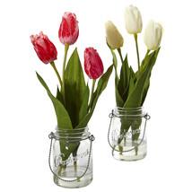 Tulip Artificial Arrangement in Jar (set of 2) - $52.21