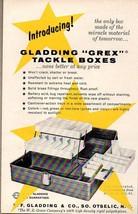 1959 Print Ad Gladding Grex Fishing Tackle Boxes W.R. Grace Otselic,NY - $9.25