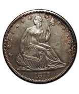 1877S Seated Silver Liberty Half Dollar 50¢ Coin Lot# A 2224 - €239,34 EUR