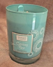 NEW Yankee Candle CATCHING RAYS Aqua Blue Jar CANDLE 10 oz LIMITED EDITION  - $17.77