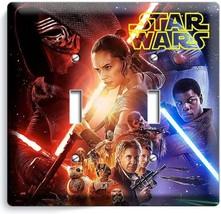 STAR WARS FORCE AWAKENS JEDI LEIA DOUBLE LIGHT SWITCH WALL PLATE NY ROOM... - $13.99