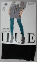 Hue Women's Classic Rib Control Top Tights Black Size 2 - $9.85