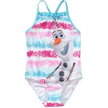 Toddler Girl 2T-4T Disney Olaf Frozen White Pink Blue Swimsuit Swim Swim... - $17.99