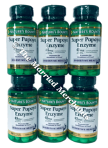 Nature's Bounty Super Papaya Enzyme 45 mg 90 tablets ea 11/2022 FRESH! - 6 pack - $39.99