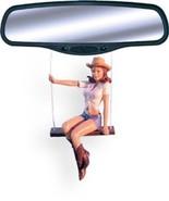 Swinging Cowgirl Gloria Rear View Mirror Auto Ornament - €11,36 EUR