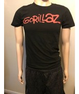 Original Vintage GORILLAZ Tour T-shirt Hip Hop Rap Men's Small Black Red - $12.59