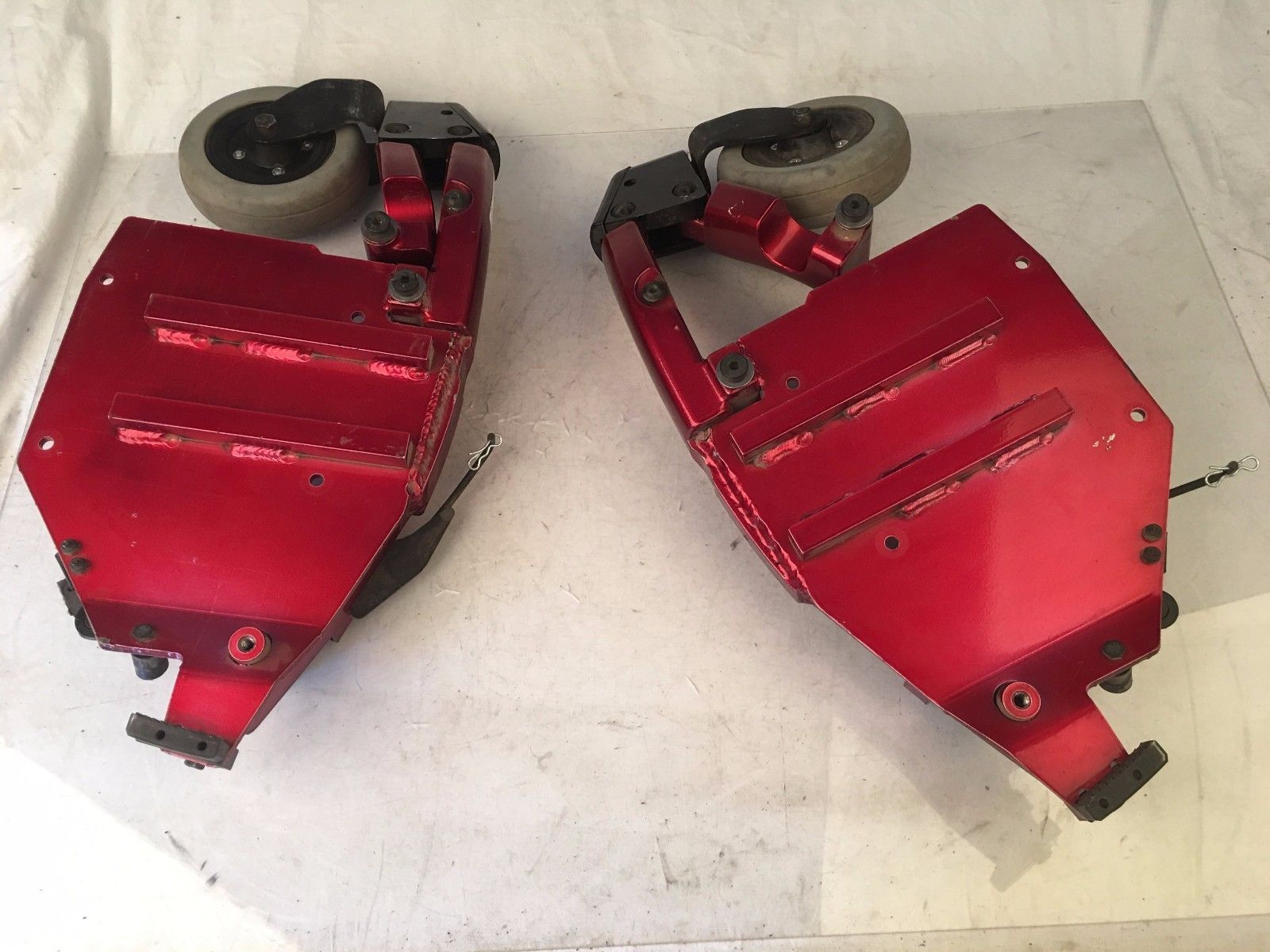 Invacare Red Front Caster Arms  w/ Wheels for Storm TDX5 Power Wheelchairs