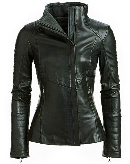 WOMEN BIKER MOTORCYCLE CASUAL SLIM FIT RIDER REAL GENUINE  LEATHER JACKET-A58