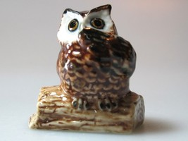 Porcelain Miniature Collectible Ceramic Brown O... - $3.96