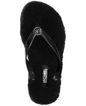MICHAEL KORS ~Sizes 6-7-8 ~ Jet Set MK Logo Jelly Sandals Faux Fur Flip Flops - $35.99