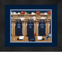 Personalized Memphis Grizzlies 12 x 16 Locker Room Framed Print - $63.95