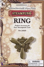SteamPunk Cosplay Victorian Bronze Propeller Gears Large Finger Ring NEW... - $8.70