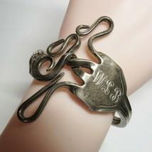 Vintage Antique Sterling Silver Swirl Fork Bracelet Cuff Bangle HEAVY 63... - $148.49