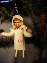 Vintage Inspired Spun Cotton Christmas Baby Girl Ornament no. CH 79 image 2