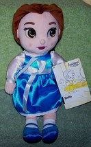"Disney Animators' Collection Plush BELLE 12"" Doll NWT - $15.88"