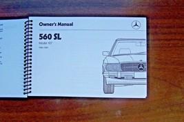 1989 Mercedes 560 sl Owners Manual  W107 Parts 1988 1987 reprint new 1986 - $54.44