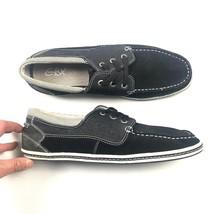 GBX Mens Black Silver Deck Shoe Sz 10M 10 Medium Casual Sneakers  - $21.25
