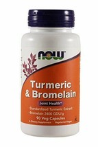 NOW Foods - Turmeric & Bromelain Joint Health - 90 Vegetarian Capsules - $22.01