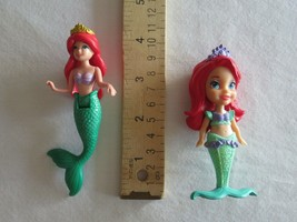 "Jakks Disney 3.5"" Ariel Little Mermaid Toddler Princess + Polly Pocket 4"" 2011 - $9.99"