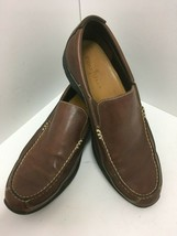 COLE HAAN TWO TONE BROWN LEATHER SLIP-ON LOAFERS DRIVING SHOES Mens 10 W... - $46.74
