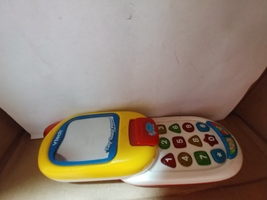 Vtech Tiny Touch Phone Teaches Numbers & Shapes - $8.00