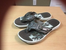 Clark's Breeze Sea Sandal Flip Flop  Pewter Sporty Thong Sandals Women s... - $31.58