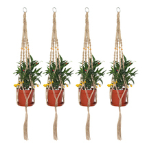 4 Pieces 2.9Ft Macrame Plant Hangers Indoor Wall Hanging Planters Rope U... - $21.73 CAD