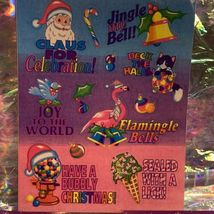 Vintage Lisa Frank  Holiday Sticker Sheet & Incomp. Mods CHRISTMAS! FLAMINGLE! image 4