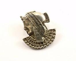Vintage Egypt Egyptian Goddess Design Pin Brooch 925 Sterling BB 1192 - $31.09