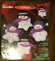Christmas Crafts - Bucilla Let It Snow Felt Ornament Kit Set Of 4 - S. Garbrandt - $26.68