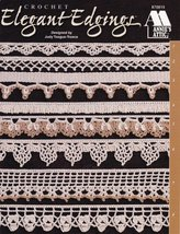 Elegant Edgings Crochet 20 Designs Towels Curtains Pillow Cases  - $4.79