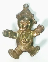 Vintage Gorham Teddy Bear Wearing A Winter Hat Scarf and Mittens Ornamen... - $9.99