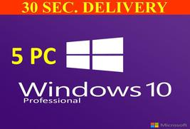 5 PC Windows 10 Pro 32/64-bit Licence Key For 5 pc Instant Delivery - $42.99