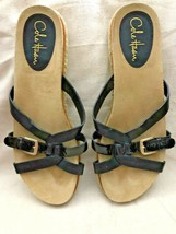 COLE HAAN Womens NikeAir Black Strap Open Back Slip On Sandals Size 10 - $14.25