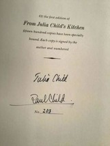 From Julia Child's Kitchen 1975 First Edition Signed Numbered Child Slip Case DJ image 2