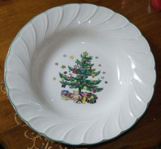 "Nikko Porcelain Vegetable Soup Bowl Happy Holidays No Utensil Marks Japan 9.25"" - $29.99"