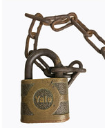 Vintage Antique Brass Hardened YALE Lock Padlock NO Key  - $14.50