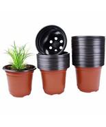 Plastic Nursery Plant Pot 100 Pack Flower Seedling Starter Pots for Litt... - $31.99+
