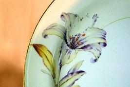 Homer Laughlin Creamy Yellow Band Purple Yellow Floral Rimmed Soup Bowl image 3