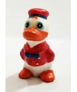 "Vintage Ceramic Figurine Duckling in Red Sailor Suit  2.5"" - £7.02 GBP"