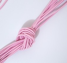 Approx 3mm wide - 5-10yd / 9 mt Pink Elastic Thread Round Elastic Cord ET52 - $5.99+