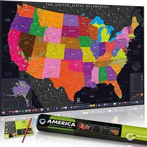 Scratch Off Map of The United States by Travel Revealer: Scratch The USA Travel