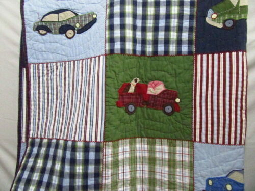 Primary image for Pottery Barn Kids Cars and Trucks Twin Patchwork Quilt